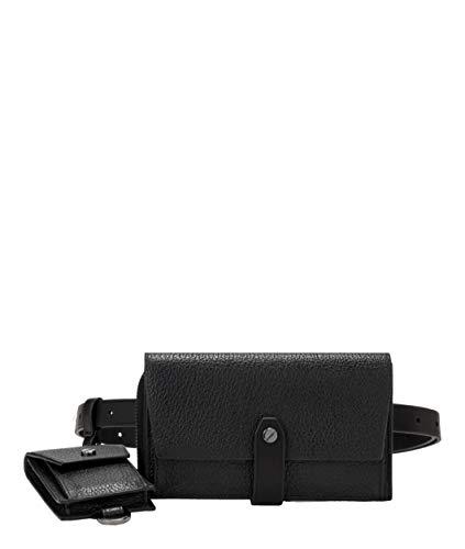 Liebeskind Berlin Damen Bond Belt Bag Umhängetasche, Schwarz (Black), 2x10x43 cm