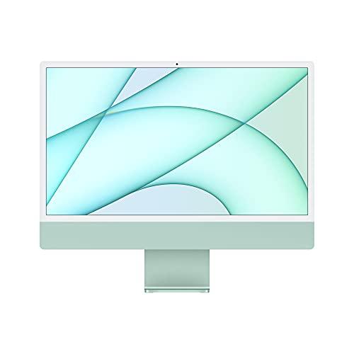 2021 Apple iMac (de24Pulgadas, Chip M1 de Apple con CPU de Ochonúcleos yGPU deOchonúcleos, Cuatro Puertos, 8GB RAM, 256 GB) - de enVerde