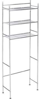 Honey-Can-Do BTH-05079 3-Tier Metal Bathroom Shelf Space Saver, 9.45 x 22.83 x 59.84, Chrome