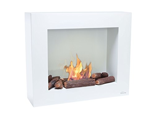 PURLINE BEST BIO Floor or wall biochimney white with flame control