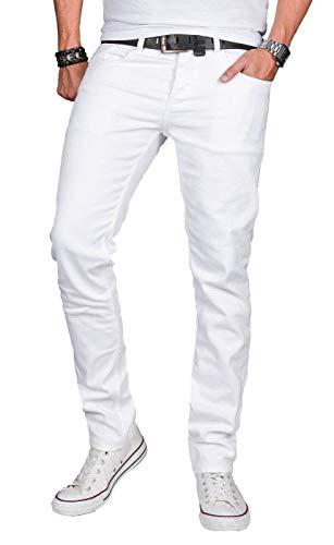 A. Salvarini Designer Herren Jeans Hose Basic Stretch Jeanshose...