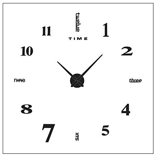 Yolistar Orologio da Parete Fai-da-Te, 3D Adesivo Orologio Parete Decorazione, Silenzioso Facile da...