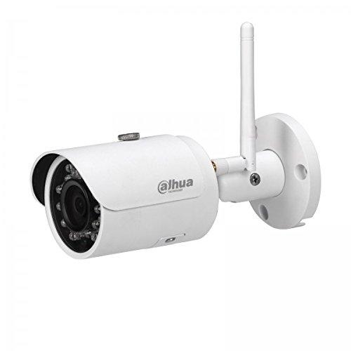 Dahua - Technology IPC-HFW1320S-W Videocamera di rete Wi-Fi Mini-Bullet IR da 3 MP (DWDR, giorno / notte (ICR), 3DNR, AWB, AGC, BLC), Bianco