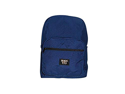 Backpack With Front Pockets,University Backpack and Made in USA. (Navy)