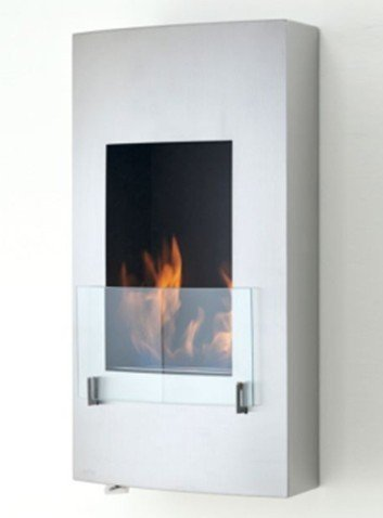 Vertical bioethanol fire, elegant design, fit on most wall due to being vertical, wall mounted bioethanol fire