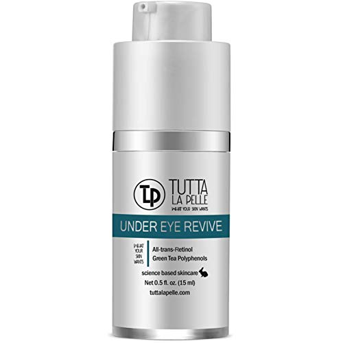Under Eye Repair Cream - All-Trans-Retinol UNDER EYE REVIVE Anti Aging Eye Cream For Dark Circles And Puffiness, Under Eye Bags, Fine lines, Wrinkles - 0.5 Oz