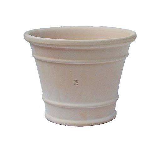 スペイン鉢 オリビア (45cm) 白い植木鉢 大型 おしゃれ テラコッタ 素焼き鉢 陶器鉢 プランター 白色 白い鉢
