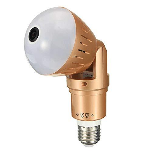 Luce di sicurezza con luce flash per fotocamera HD LED WiFi telecamera nascosta telecamere di lampadina di luce notturna 360 IP stenopeico Baby Nanny CAM Wireless