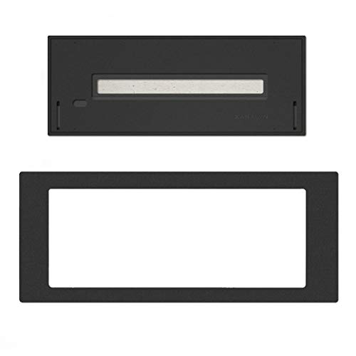 Xaralyn - Installation profile L including bio-ethanol burner L (5820LB) stainless steel with black powder coating.