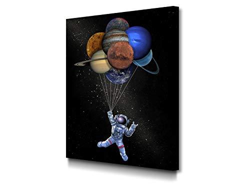 Foto Canvas Impression sur Toile Un Voyage À Travers La Galaxie 30 x 40 cm...