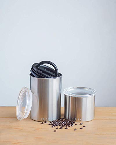 Product Image 6: Airscape Coffee and Food Storage Canister - Patented Airtight Lid Preserve Food Freshness with Two Way Valve, Stainless Steel Food Container, Medium 7-Inch Can, Brushed Steel
