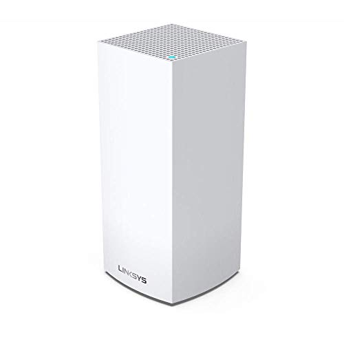 Linksys MX4200 Velop Tri-Band WiFi 6 mesh (AX4200 Routeur/Extendeur Wi-Fi sans fil jusqu'à 260 m² et vitesse 3,5 fois supérieure pour plus de 40 appareils, 1 pièce, blanc)