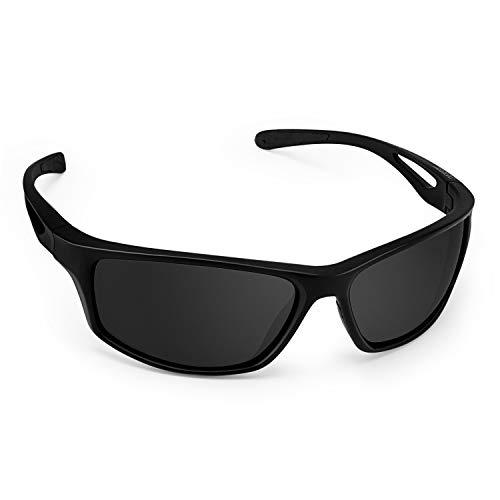 CHEREEKI Occhiali da Sole, Occhiali da Sole Sportivi da Uomo e Donna UV400 Polarizzati per Guida Sci Golf Corsa Ciclismo...