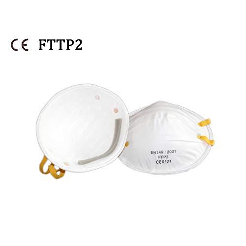 SLTZ 20pz Filtro facciale USA e Getta con Filtro facciale con efficienza di filtrazione al 95% e Clip nasale Regolabile