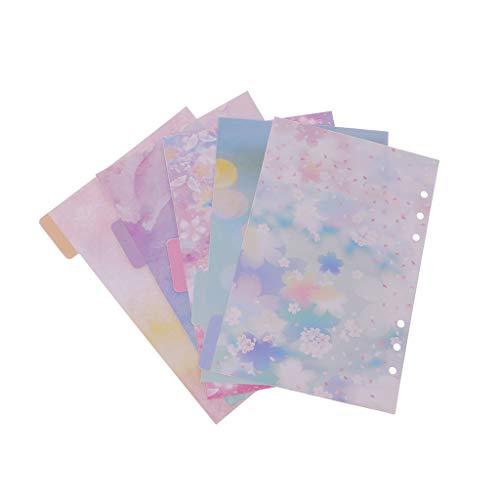 xizang 5 pezzi Accessori per divisori di fiori per Dokibook Notebook Planner A5 A6 Pagina interna