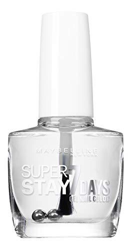 Maybelline SuperStay 7Days 25 Base Transparente 10ml Transparente esmalte de uñas - esmaltes de uñas (Transparente, Base Transparente, Francia, 1 pieza(s), 10 ml, 21 mm)