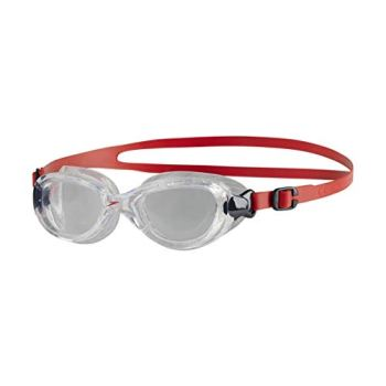 Speedo Unisex Child Futura Classic Goggles, Red (Lava Red/Clear), One Size