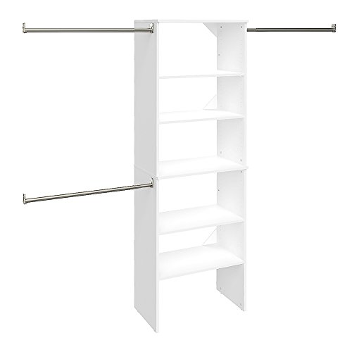 ClosetMaid SuiteSymphony Starter Tower Kit, 25', Pure White