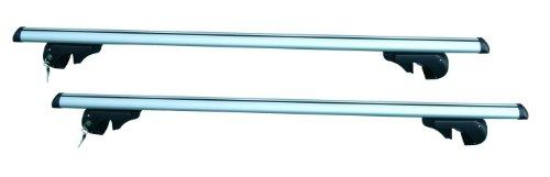 HP max. 90 kg Coppia Barre da Tetto Completa per Auto con Rails Rialzati, Argento, Extra Large