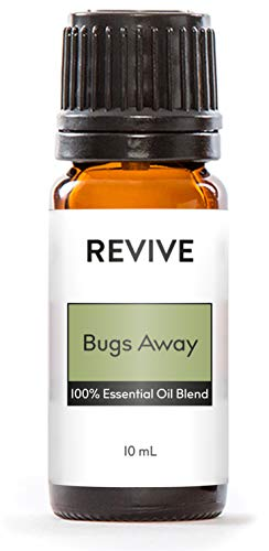 REVIVE Essential Oils - BUGS AWAY 10 ml - 100% Pure Therapeutic Grade, For Diffuser, Humidifier, Massage, Aromatherapy, Skin & Hair Care - Unrefined Oils With No Fillers