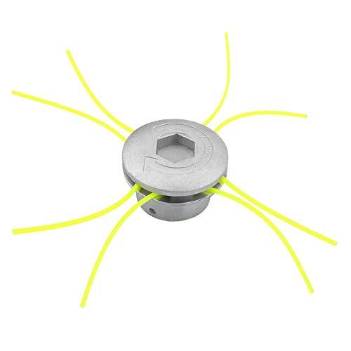 Cikuso Testa universale del tagliaerba in alluminio con 4 linee Testina del decespugliatore Testa in...