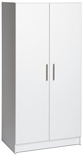 "Prepac WES-3264 Elite Storage Cabinet, 32"" W x 65"" H x 16"" D, White"
