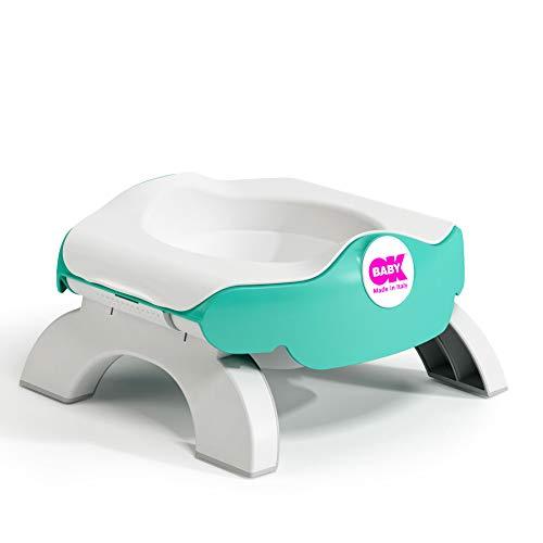OKBaby Roady 3-in-1 Potty, Travel Potty and Toilet Training Seat, Aqua