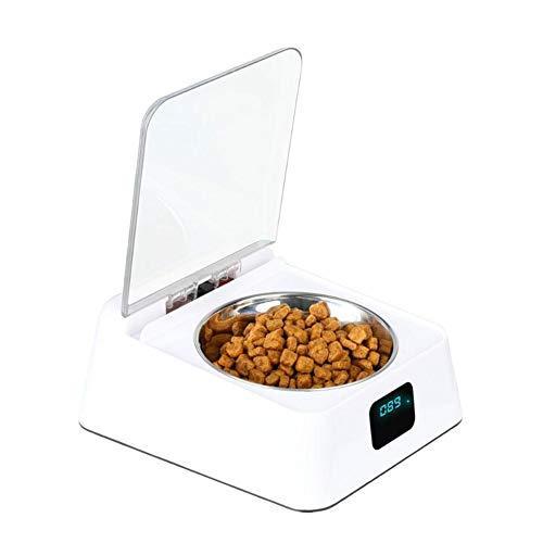 luckything Futterautomat Futterspender Katze & Hunde, Infrarotsensor Automatisch Offene Abdeckung Anti-Milbe Anti-Maus Feuchtigkeitsbeständig Automatischer Futterspender Smart Dog Feeder