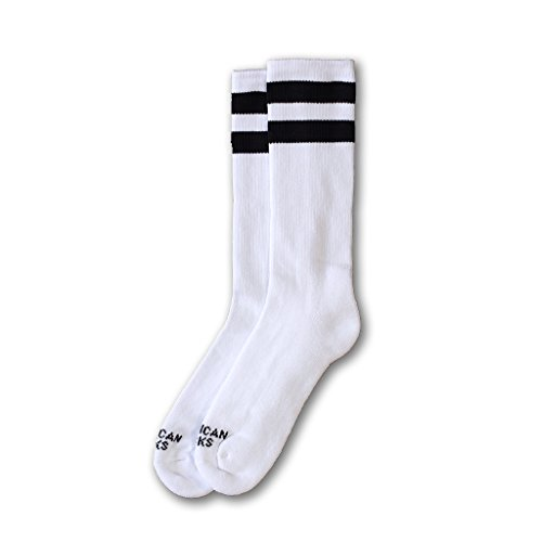 AMERICAN SOCKS OLD SCHOOL I mid high WHITE BLACK BLACK