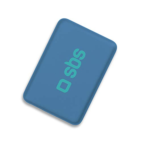SBS Power Bank Caricabatterie Portatile da 4000 mAh, Dual Charge, 1 Ingresso Micro USB e 1 Uscita USB, Cavo USB Incluso, Blu
