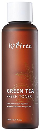 ISNTREE Green Tea Fresh Hydrating Face Toner 6.17 Fl Oz with Hyaluronic Acid for Sensitive, Oily, Dry, Acne-Prone, Skin | Deep Moisturizing Facial Moisturizer Hypoallergenic