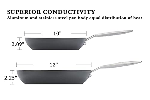 Product Image 9: Stainless Steel Induction Nonstick Frying Pan Cookware set, MSMK 12 and 10 <a href=