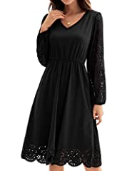 Lace Party Dress with A-line design highlight your body curves perfectly. The floral scallop hem makes the dress more distinctive and show your femininity. Great gift-fashionable and versatile dress, one of the essential dresses in your wardrobe. Occ...