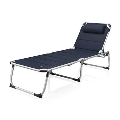 Campart BE-0637 Sonnenliege – 600D Polyesterbezug – faltbares Reisebett