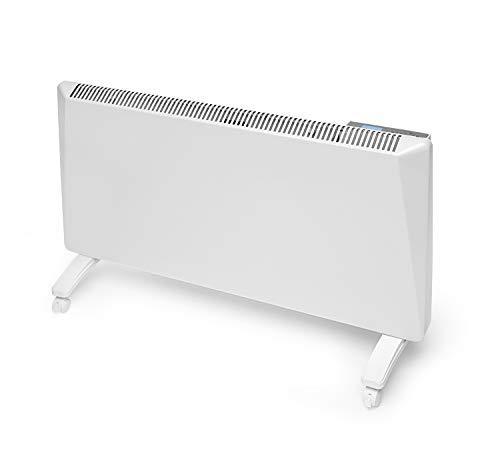 Radialight Sirio Termoconvettore Elettrico Portatile Basso Consumo Controllo Digitale Temperatura Programmabile Eco Stufa Riscaldatore a Risparmio Energetico Protezione Umidit IP24 (1500W)