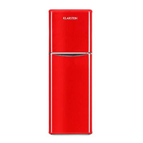 Klarstein Monroe XL Red - V-2, Combinazione Frigo-Congelatore, Frigorifero Combinato, 70 W, Look...