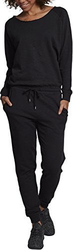 Urban Classics Damen Ladies Long Sleeve Terry Jumpsuit, Schwarz (Black 00007), X-Large