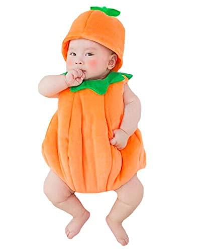 Baby Photography Props Halloween Handmade Pumpkin Costume Hat...