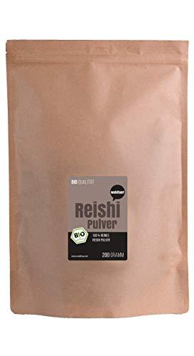 Wohltuer Bio Reishi Pulver   Vitalpilz Pulver für Reishi Tee, Reishi Kaffee oder Reishi Latte 200g aus fairem Handel