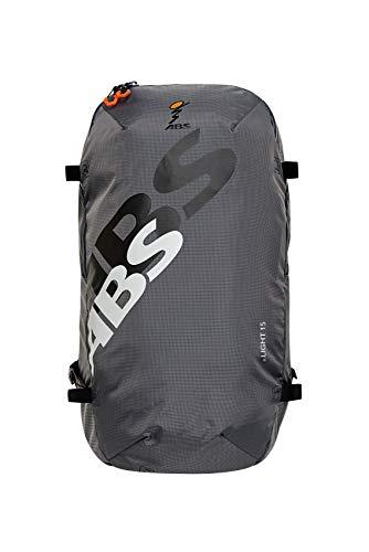 ABS Unisex– Erwachsene Lawinenrucksack Zip-On 15, Packsack für P.Ride Compact und S.Light Base Unit, 15L Volumen, Fach für Sicherheitsausrüstung, Ski-und Snowboardhalterung, Helmnetz, Rock Grey