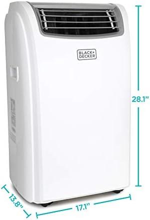 BLACK+DECKER BPACT14WT Portable Air Conditioner with Remote Control, 7,700 BTU DOE (14,000 BTU ASHRAE), Cools Up to 350 Square Feet, White 17