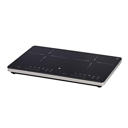 WMF Kult X Doppel- Induktionskochfeld, bis zu 28 cm, 2 Kochzonen, 8 Leistungsstufen, Topferkennung,Touch-Display, Glaskeramik, Timer-Funktion, 3500 W