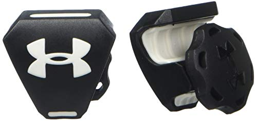 Under Armour 9900-0111T Football Helmet Visor Clips with Logo, Black/White