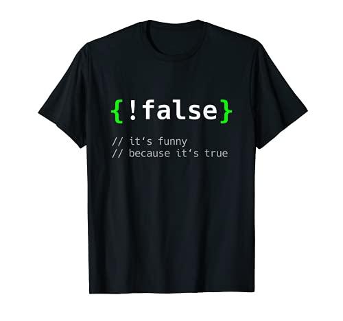 !False Divertido Regalo Programador Informático Codificación Camiseta