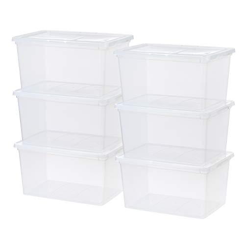 IRIS USA, Inc. CNL-58 IRIS 58 Quart Clear Storage Box, 6 Pack, 6 Count