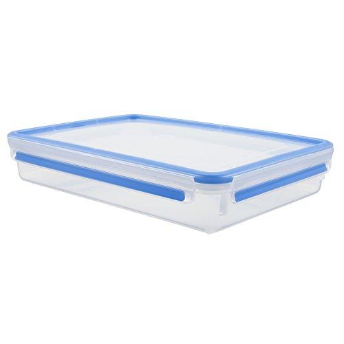 Tefal K3022412 - Masterseal Fresh - Boîte plastique de conservation alimentaire rectangulaire - 2.6 L - Bleu