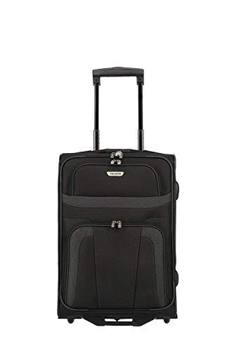 Travelite 2-Rad Handgepäck Koffer erfüllt IATA Bordgepäck Maß, Gepäck Serie ORLANDO: Klassischer Weichgepäck Trolley im zeitlosen Design, 098487-01, 53 cm, 37 Liter, schwarz