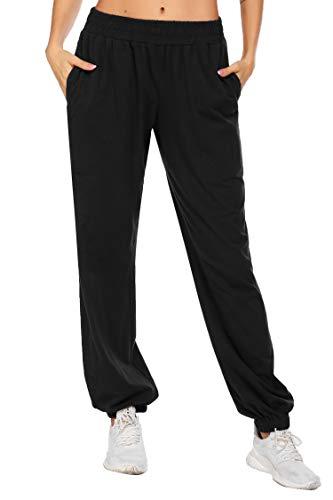 coorun Yoga Jogger for Women Workout Pants Oversized Lounge Trousers Casual Pants Classic Sweatpants Black 1
