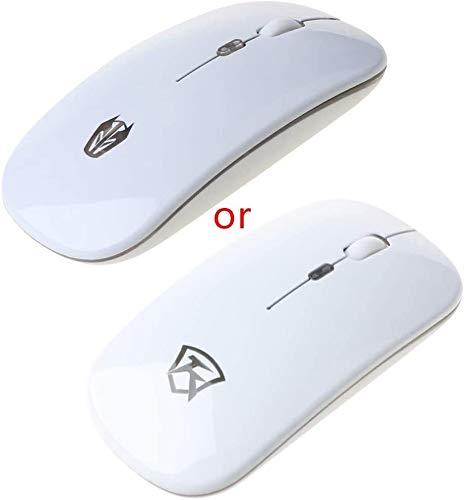 Mouse sans Fil de 2,4 GHz Trois Engrenages DPI Réglable Silent USB Souris de Charge hfhdqp (Color : White)