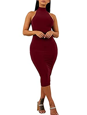 Material:90% polyester and 10% spandex,super stretchy,soft and comfortable fabric Classic and simple cut out,it fits all your curves.Because of high neck,you can dress up with your jacket or coat for early spring and autumn High turtle neck,sleeveles...